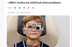 I didn't realise my child had vision problems